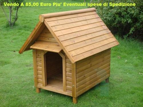 Cuccia per cani in legno di abete ideale da esterno taglia for Cucce da interno per cani taglia grande